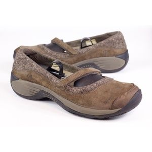 Womens Merrell Brown Leather Mary Jane Flats 9.5 M